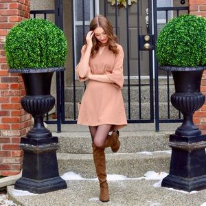 Gorgeous Beige Dress with bow detail and cutouts
